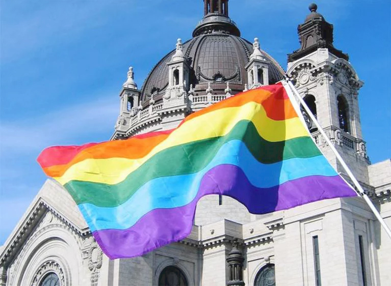 rainbow flagin Rome